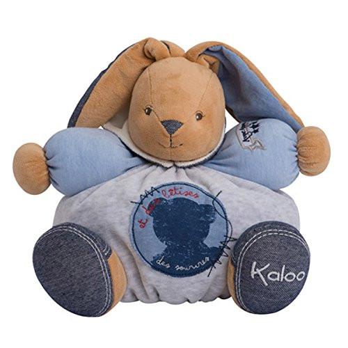 Kaloo Denim Plush Toy, Cheerful Chubby Rabbit, Large