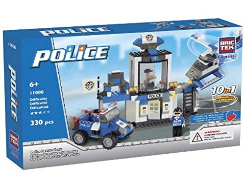 BricTek Building Brick Set #11008 - Police Rescue Team, 330 pieces
