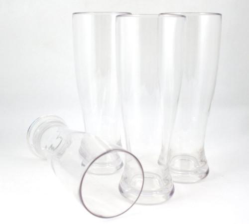 WineTanium Unbreakable Pilsner 24 oz Beer Glasses - 100% Tritan - Shatterproof, Reusable, Dishwasher Safe - Set of 4