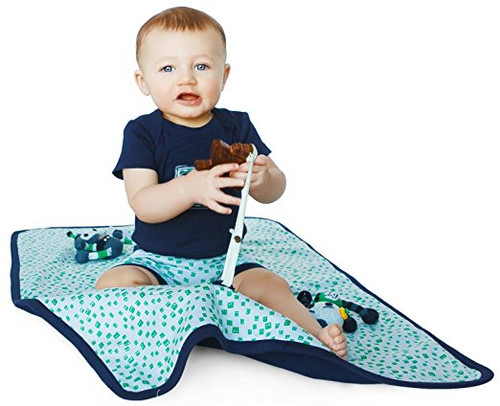 Finn + Emma | Play Mat | Baby Boy | Robot Collection | 100% Organic Cotton
