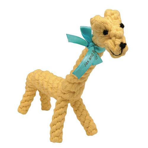 "Jax and Bones Jerry The Giraffe Jumbo Good Karma Rope Toy, 16"""