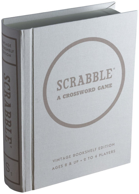 Scrabble Linen Vintage Bookshelf Edition