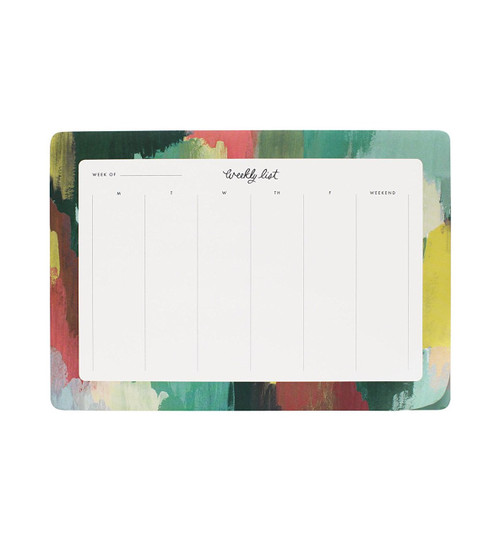 Rifle Paper Paint Strokes Weekly Planner Desk Pad Mouse Pad