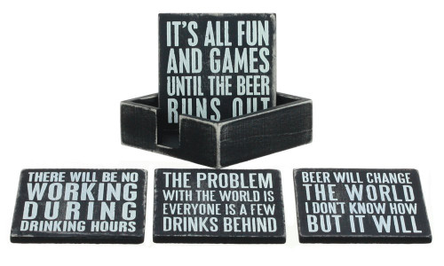 Box Sign Coasters - Beer