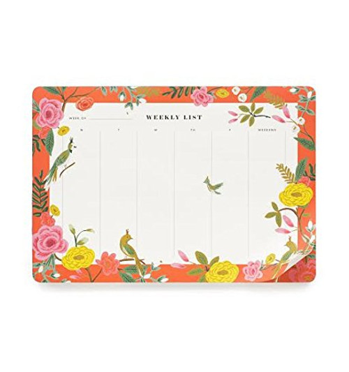 Rifle Paper Shanghai Garden Weekly Planner Desk Pad Mouse Pad