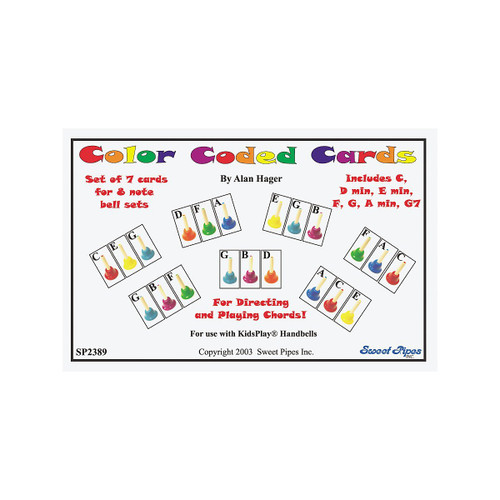 Rhythm Band Handbell Cards-7 Chords/8 Note