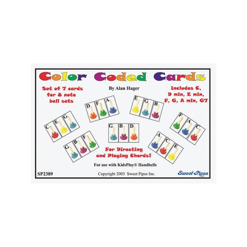 Rhythm Band Handbell Cards-7 Chords/8 Note