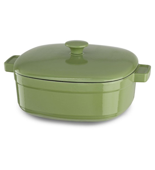 KitchenAid KCLI60CRKI Streamline Cast Iron 6-Quart Casserole Cookware - Kiwi