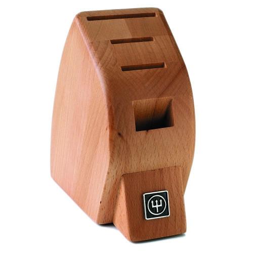 4-Slot Mobile Beech Knife Block