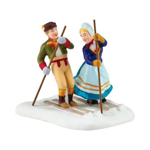 Department 56 Alpine Village Figurine Love On The Slopes