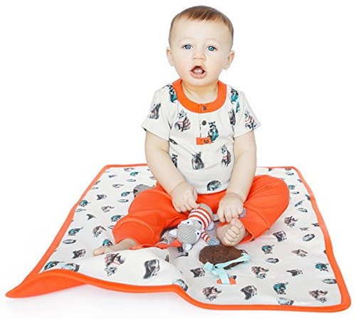 Finn + Emma | Play Mat | Baby Unisex | Woodland Collection | 100% Organic Cotton