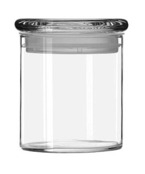 Libbey 22-Ounce Cylinder Jar with Glass Lid, Set of 6