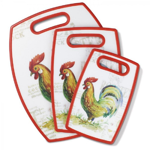 Cuisinart Rooster Collection Cutting Board, Multicolor