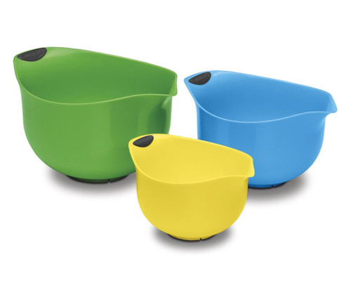 Cuisinart CTG-00-3MBM Set of 3 BPA-free Mixing Bowls, Multicolored