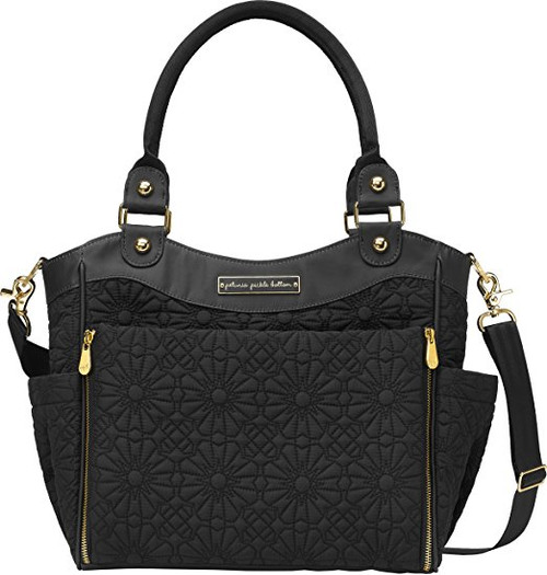 Petunia Pickle Bottoms City Carryall Diaper Bag in Bedford Avenue Stop Special Edition, Gold