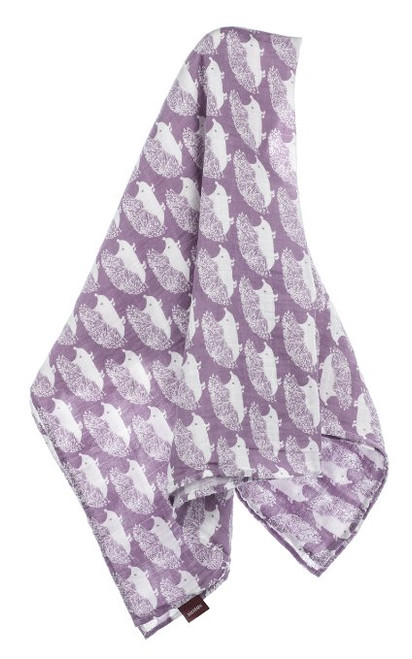 Milkbarn Organic Cotton Swaddle Blanket - Lavender Hedgehog