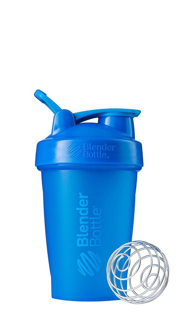 BlenderBottle Classic Loop Top Shaker Bottle, Cyan/Cyan, 20-Ounce Loop Top