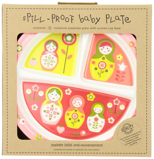 Sugarbooger Divided Suction Plate, Matryoshka Doll
