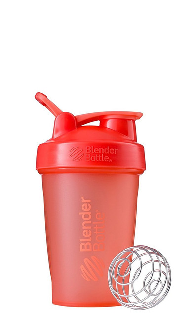 BlenderBottle Classic Loop Top Shaker Bottle, Coral/Coral, 20-Ounce Loop Top