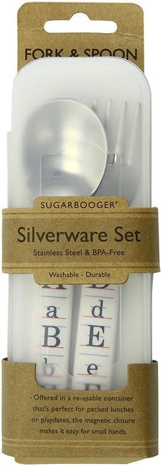 Sugarbooger Silverware Set, Vintage Alphabet