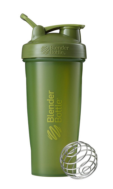 BlenderBottle Classic Loop Top Shaker Bottle, Moss Green/Moss Green, 28-Ounce Loop Top