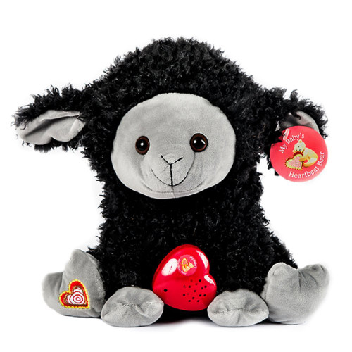 MBHB - Black Sheep Stuffed Animal w/ 20 sec Voice Recorder - Black Sheep