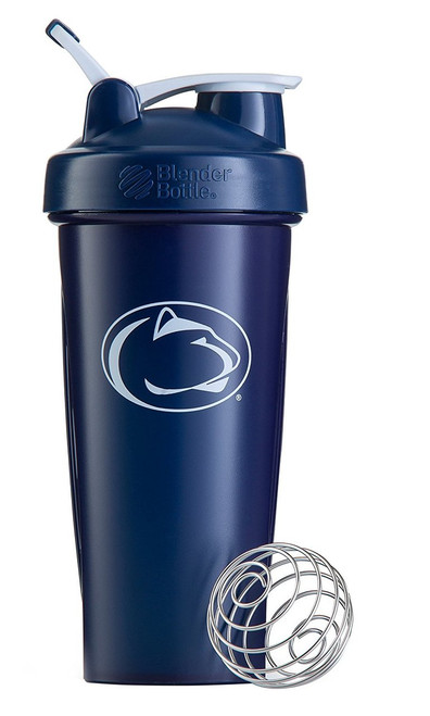 BlenderBottle Classic NCAA Collegiate Shaker Bottle, Penn State University - Blue/White, 28-Ounce