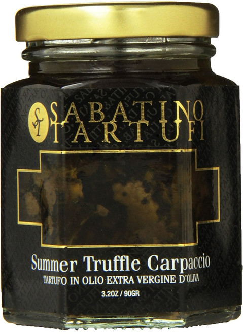 Sabatino Sliced Black Summer Truffles in Extra Virgin Olive Oil, 3.2 Ounce