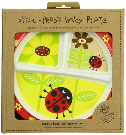 Sugarbooger Divided Suction Plate, Lady Bug