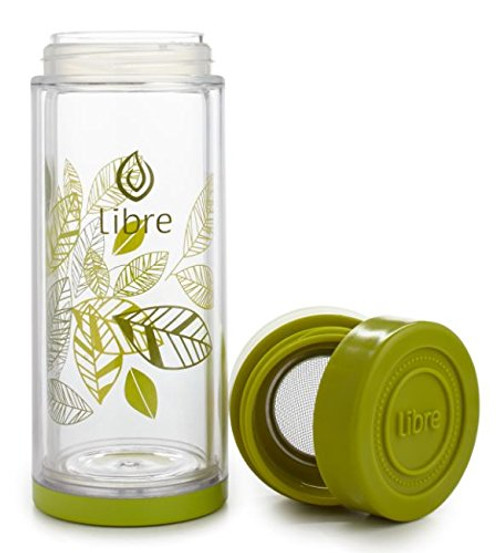 Libre glass'n poly Tea Glass Lively Leaves - 14 oz