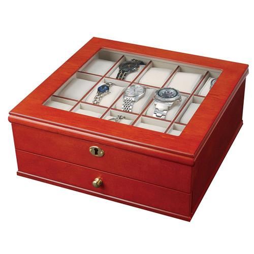 Mele & Co. 0067711 Chris Locking Wooden Watch Box