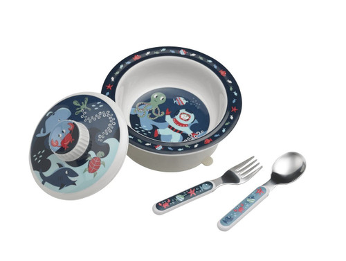 Sugarbooger Covered Suction Bowl Gift Set, Ocean