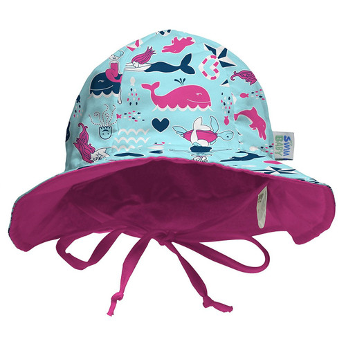 My Swim Baby Sun Hat (Large, Little Mermaids)