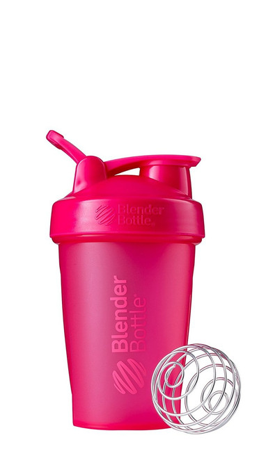 BlenderBottle Classic Loop Top Shaker Bottle, Full Color Pink, 20-Ounce Loop Top