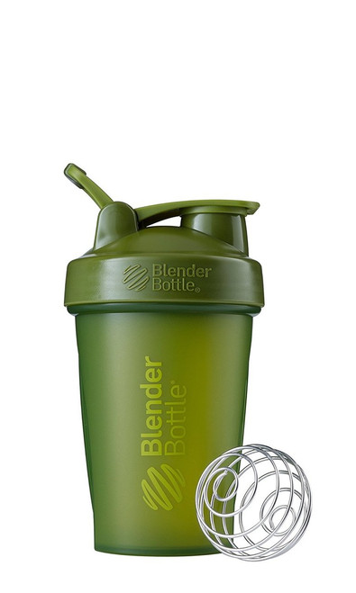 BlenderBottle Classic Loop Top Shaker Bottle, Moss Green/Moss Green, 20-Ounce Loop Top