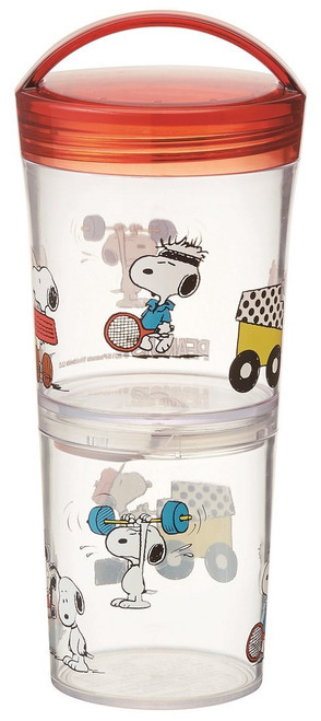 Skater 2 Piece Peanuts Stackable Snack Containers with Handle