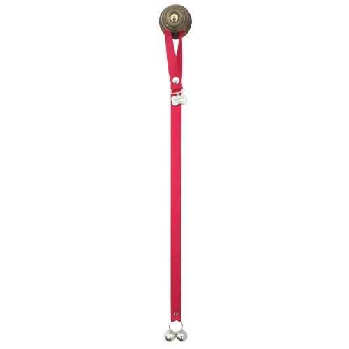 PoochieBells  Dog Housetraining Doorbell in X-Long for Teacup/Small or Timid Dogs, Cherry Red