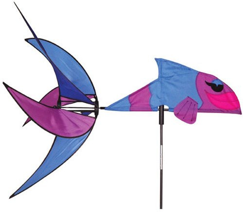 Premier 25323 Wind Garden Aquatic Life Wind Spinner, Tropical Fish