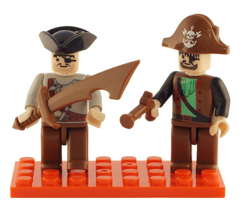 Brictek 2 Piece Pirate Figure Set
