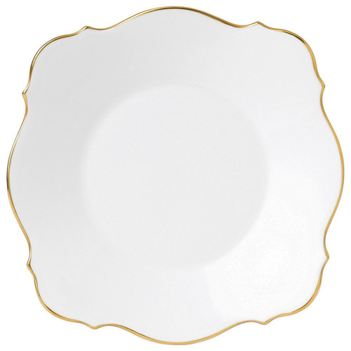 "Wedgwood Jasper Conran Gold Baroque Charger, 13"", White"