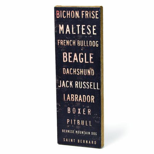 DEMDACO Bichon Frise Typography Burlap Box Sign
