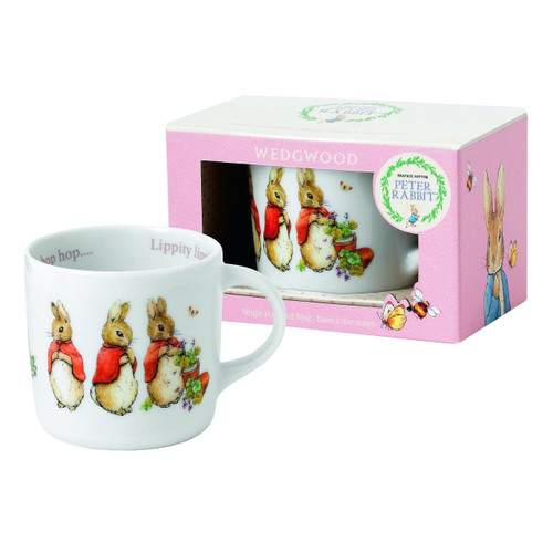 Wedgwood Girl's Peter Rabbit Single Handled Mug, White and Pink
