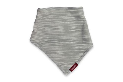 Milkbarn (Zebi Baby) Kerchief Bib - Gray Stripe