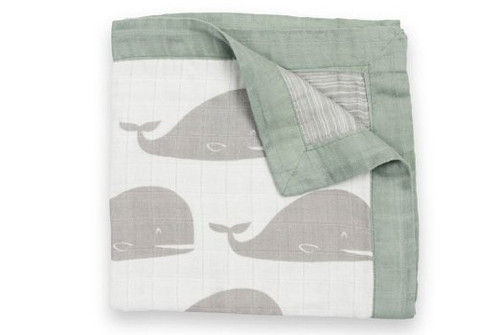 Milkbarn Muslin Mini Lovey Blanket (Grey Whale)