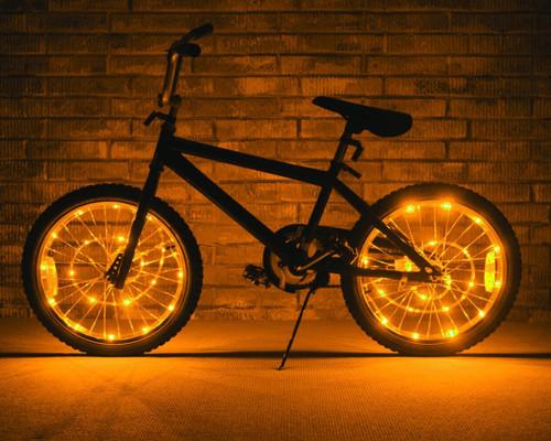 Brightz, Ltd. Gold Wheel Brightz LED Bicycle Light