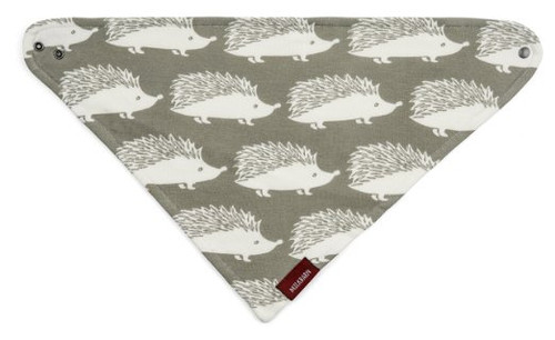 Milkbarn Kerchief Bib O/S Grey Hedgehog