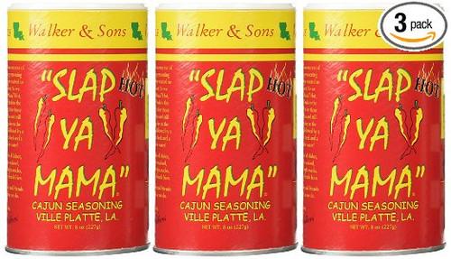 Slap Ya Mama Hot Seasoning 8 ounce (3 Pack)