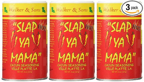 Slap Ya Mama Hot Seasoning 8 ounce (3 Pack)