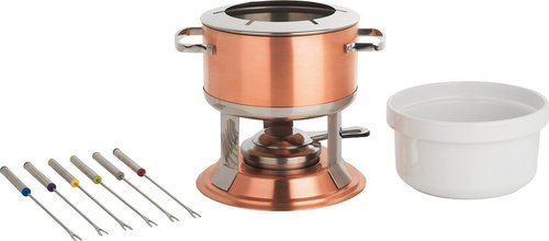 Copper Plated Fondue Kit