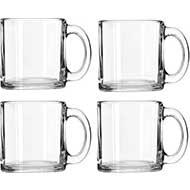 Libbey Crystal Coffee Mug Set of 4